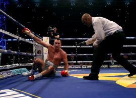 """Joshua spektakël në """"Wembley"""", gjunjëzohet Klitschko"""