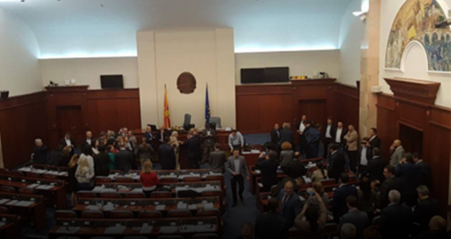 Protesters enter Parliament in Macedonia