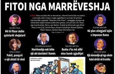 """FORUMI I ANALISTËVE TË """"ALBANIAN FREE PRESS"""": RAMA APO BASHA? KUSH DOLI I FITUAR NGA MARRËVESHJA"""