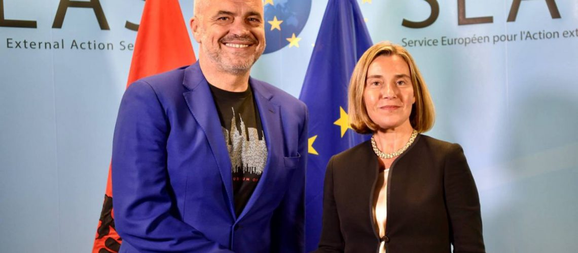 Rama with Mogherini: Government and opposition will request the launch of talks after June 25 elections