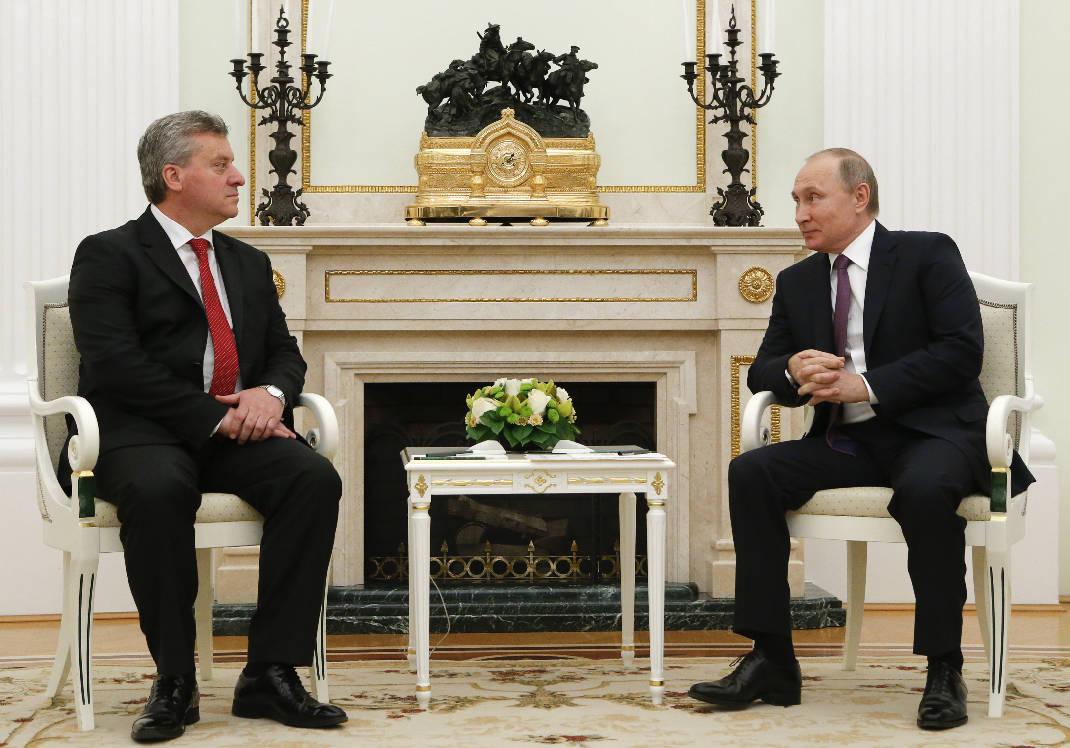 Putin pret presidentin maqedonas Ivanov në Moskë