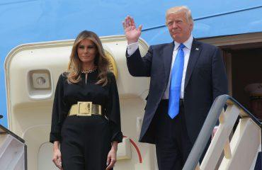 Donald Trump në Riad, Melania pa shami mbi kokë