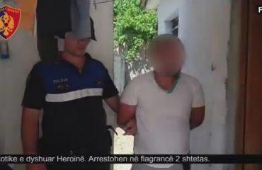 Kapen me 700 gramë heroinë, arrestohen dy persona në Fier