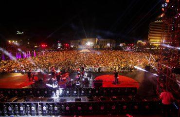 """AD Disha, DJ Cool, Criss V, ndezin sot në mbrëmje sheshin """"Skënderbej"""""""