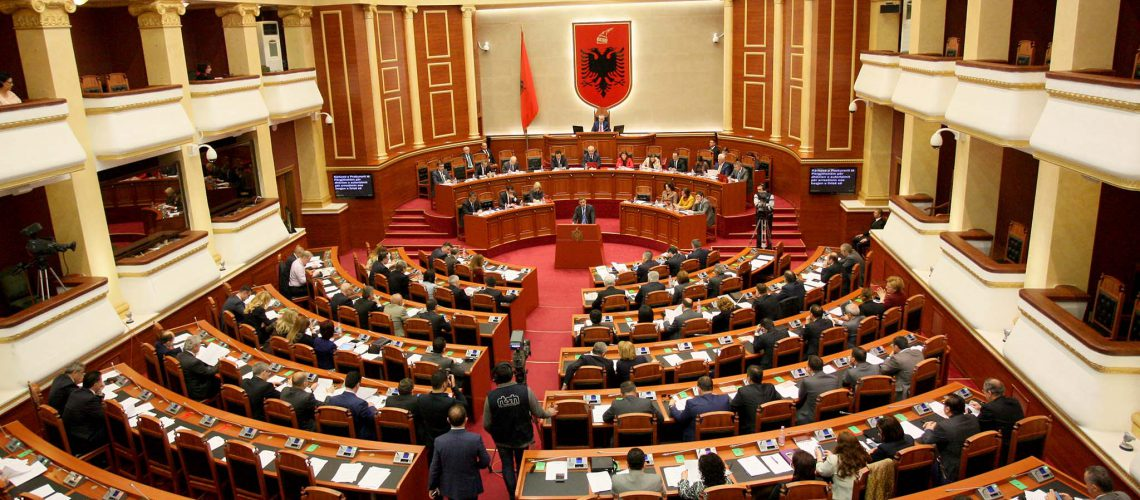Former minister Tahiri in Parliament, opposition boycotts proceedings