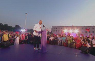 Rama mbyll fushatën në Tiranë: Votë kuqezi, për të gjitha ata që duan shtet