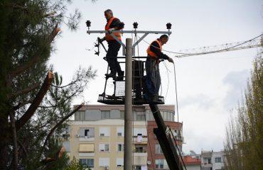 Po priste degë pemësh, bie nga lartësia punonjësi i OSHEE-së