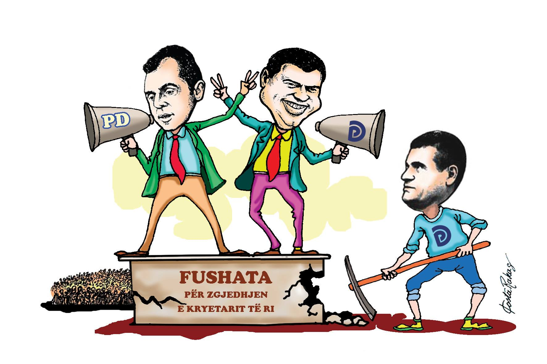 Karikatura e ditës në Albanian Free Press nga Kosta Raka (17 korrik 2017)