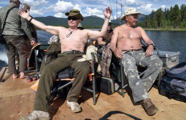 Putin në Siberi, për peshk dhe banjo dielli