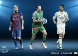 Lojtari i Vitit 2017, UEFA Në garë Buffon, Messi
