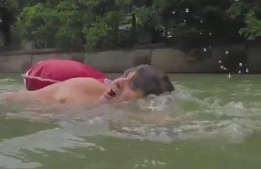 Bën 2 km not çdo ditë për të shkuar në punë, ja video e Benjamin David