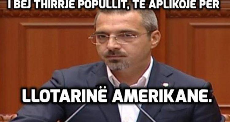 Saimir Tahiri qetëson deputetët: Paratë do t'i gëzoni! Vrapo o popull, të bësh lotarinë amerikane!