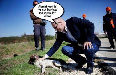 Edi Rama i telefonon Macronit: Ma jep qenin tënd, që të përmjerë në zyrën time...!