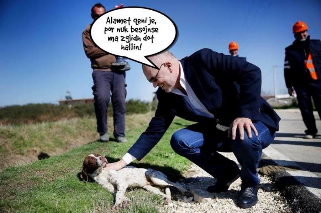 """""""ANTENA JASHTË FAMILJES"""": Edi Rama i telefonon Macronit: Ma jep qenin tënd, që të përmjerë në zyrën time...!"""