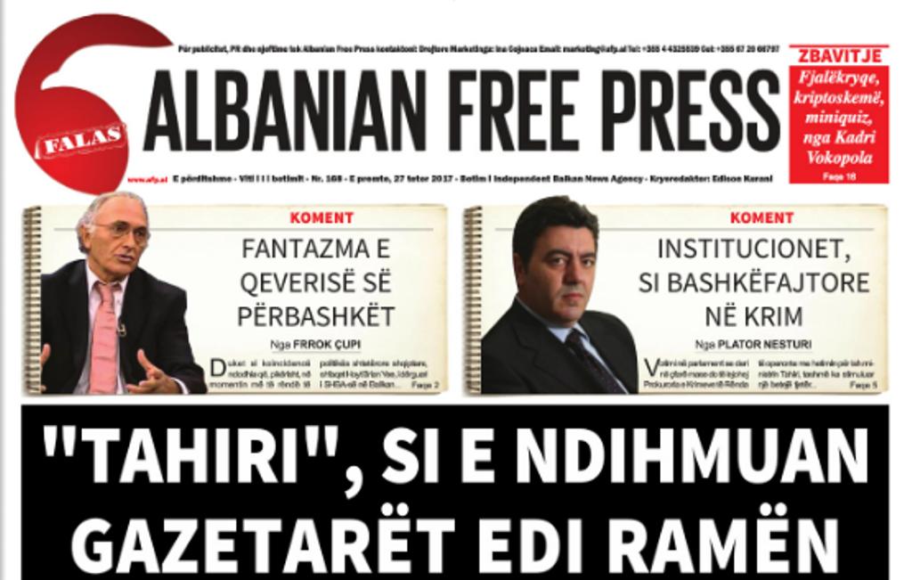 """KLSH: Auditimet tona, të paanshme, detyrë e qeverisë të zbatojë rekomandime - Reagim pas shkrimit në """"Albanian Free Press"""""""