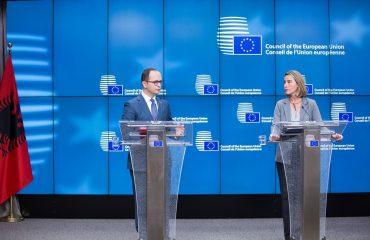 Bushati and Mogherini comment Albania's integration process