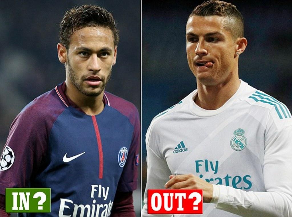 Tentativat,  Neymar në vend të Ronaldos