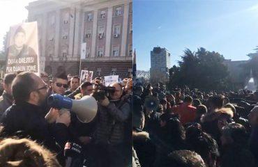 Vdekja e Florenc Beqirajt në Francë, protesta në kryeqytet