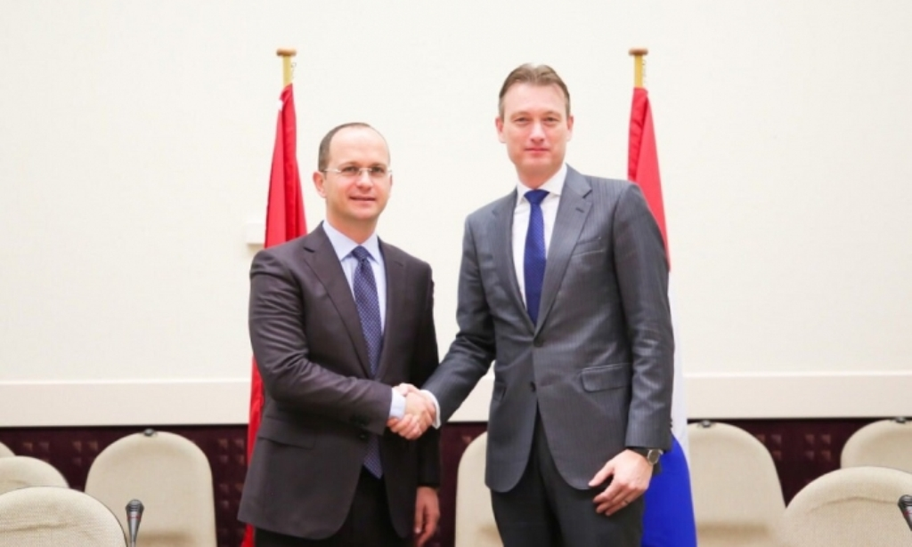 Minister Bushati meets his Dutch counterpart Hable Zijlstra