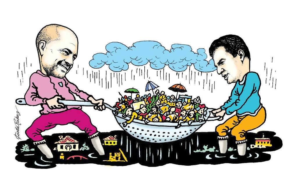 Karikatura e ditës në Albanian Free Press nga Kosta Raka (4 dhjetor 2017)