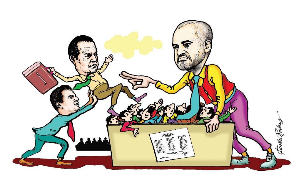 Karikatura e ditës në Albanian Free Press nga Kosta Raka (7 dhjetor 2017)