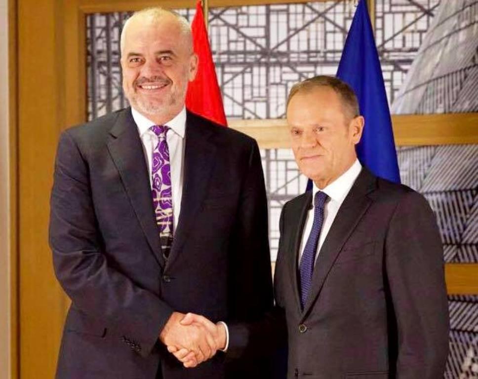 PM Rama meets the EU President