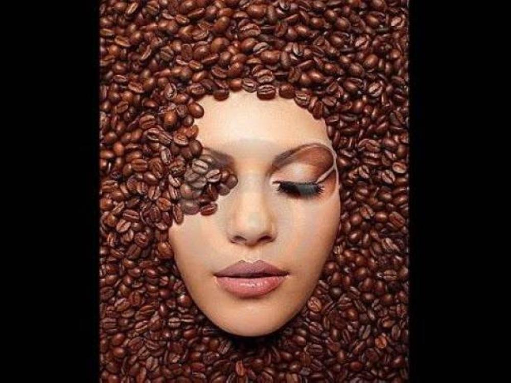 Maska për fytyrën me kafe