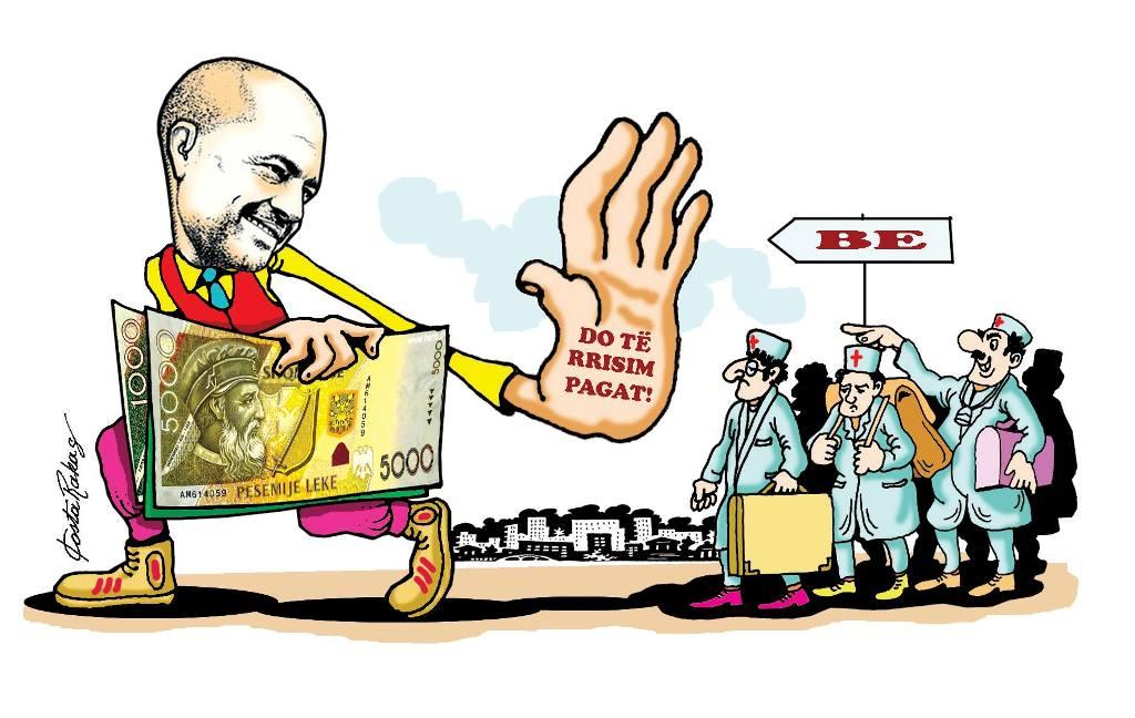Karikatura e ditës në Albanian Free Press nga Kosta Raka (12 janar 2018)