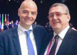Urime dhe përqafime! Kreu i FIFAs letër përgëzimi