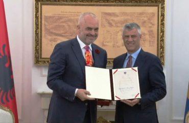 Kryeministrit Edi Rama i akordohet Medalja e Pavarësisë së Kosovës