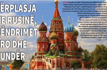 """FORUM NË """"ALBANIAN FREE PRESS"""": A NA DUHEJ PËRPLASJA ME RUSINË?"""