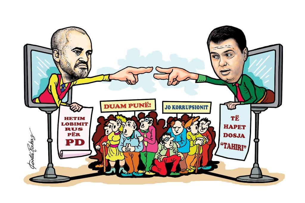 Karikatura e ditës në Albanian Free Press nga Kosta Raka (13 mars 2018)
