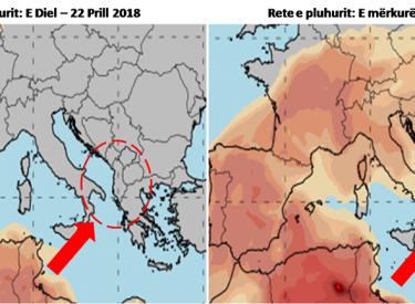 Meteorologët: Këtë javë vijnë retë e pluhuri nga Afrika