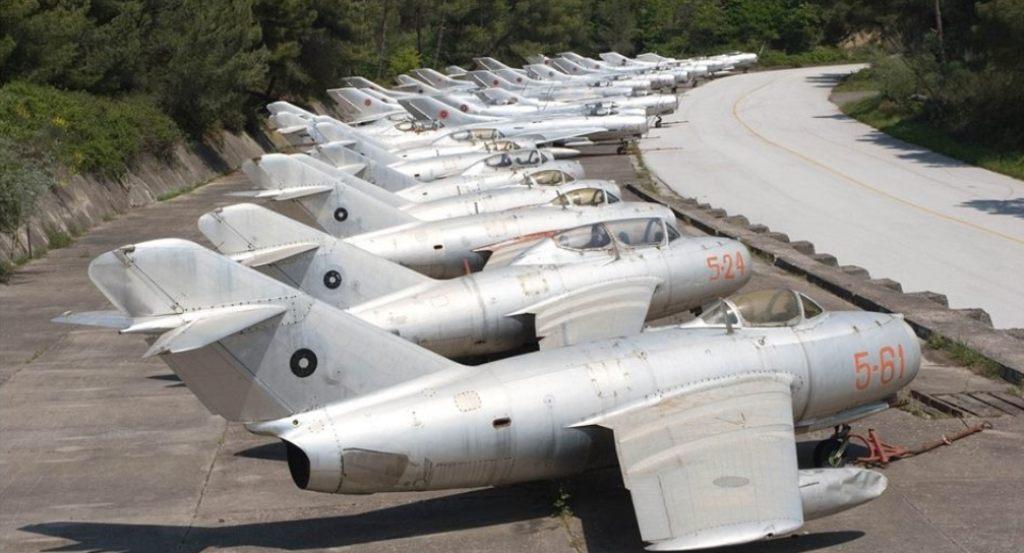 Aviacioni luftarak, 240 mjete fluturuese në qiellin shqiptar