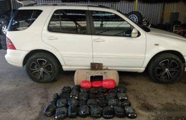 Kapet çifti shqiptar në Greqi, po transportonin 32 kg kanabis në impiantin e gazit të makinës