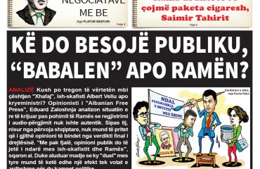 """Lexoni sot, 21 Maj 2018, në gazetën e përditshme """"Albanian Free Press"""""""