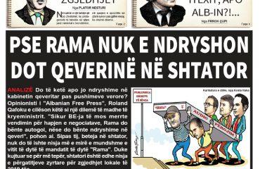 """Lexoni sot, 22 Maj 2018, në gazetën e përditshme """"Albanian Free Press"""""""