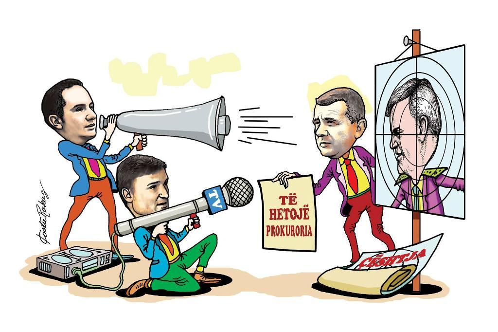 Karikatura e ditës në Albanian Free Press nga Kosta Raka (15 maj 2018)