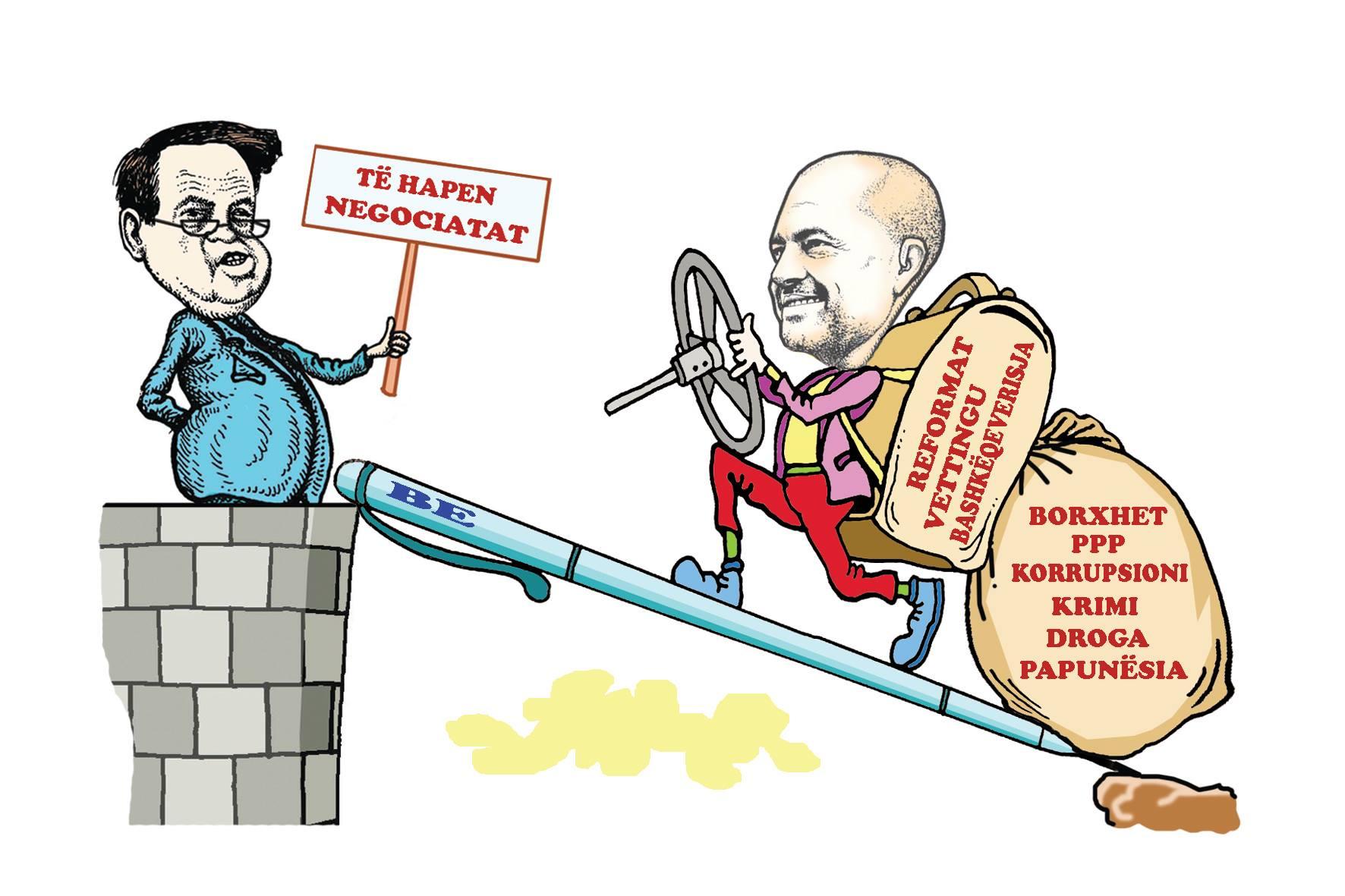Karikatura e ditës në Albanian Free Press nga Kosta Raka (13 qershor 2018)