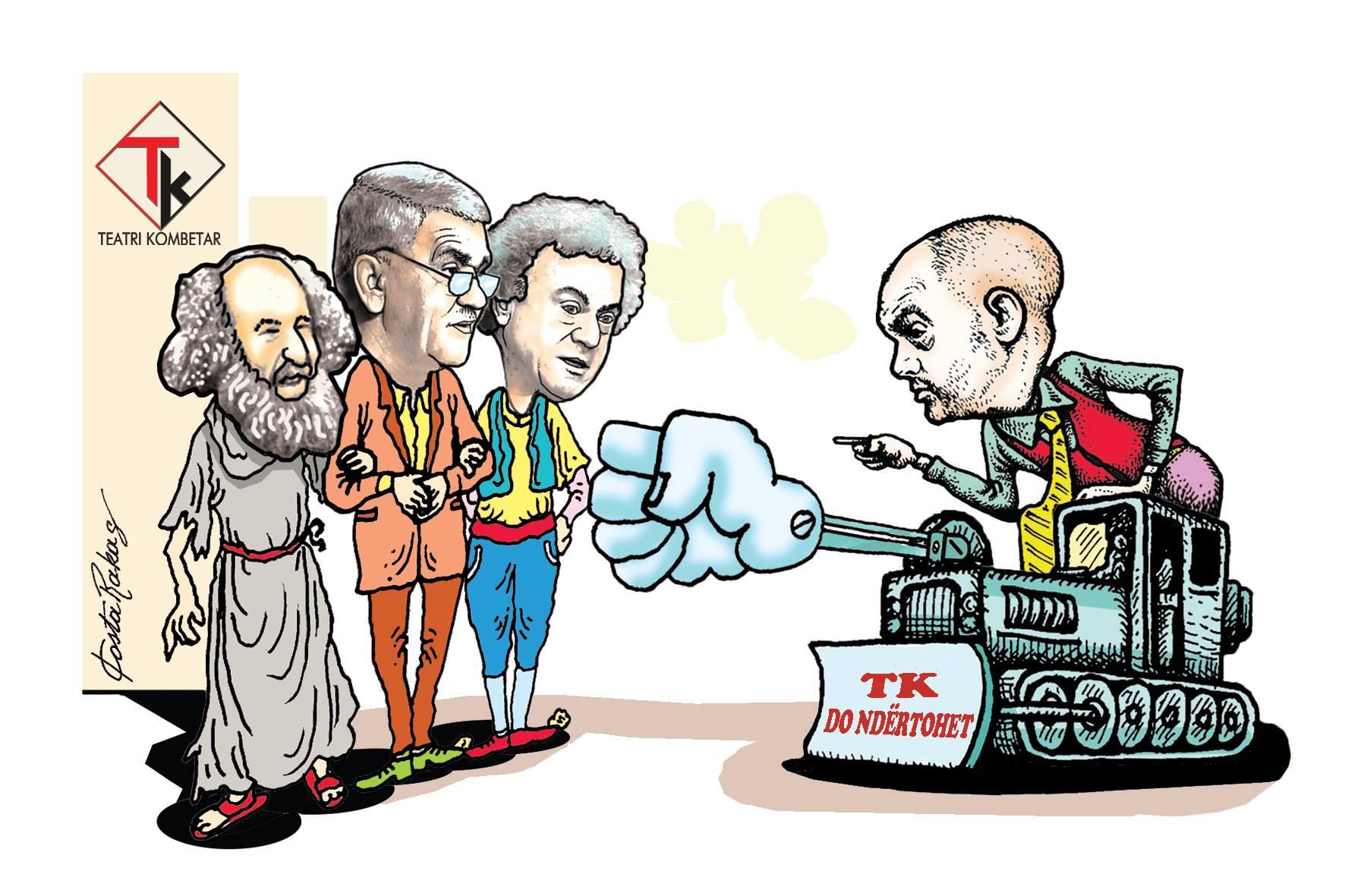 Karikatura e ditës në Albanian Free Press nga Kosta Raka (14 qershor 2018)