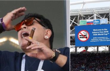 Botërori, legjenda Maradona shënon incidentet e para