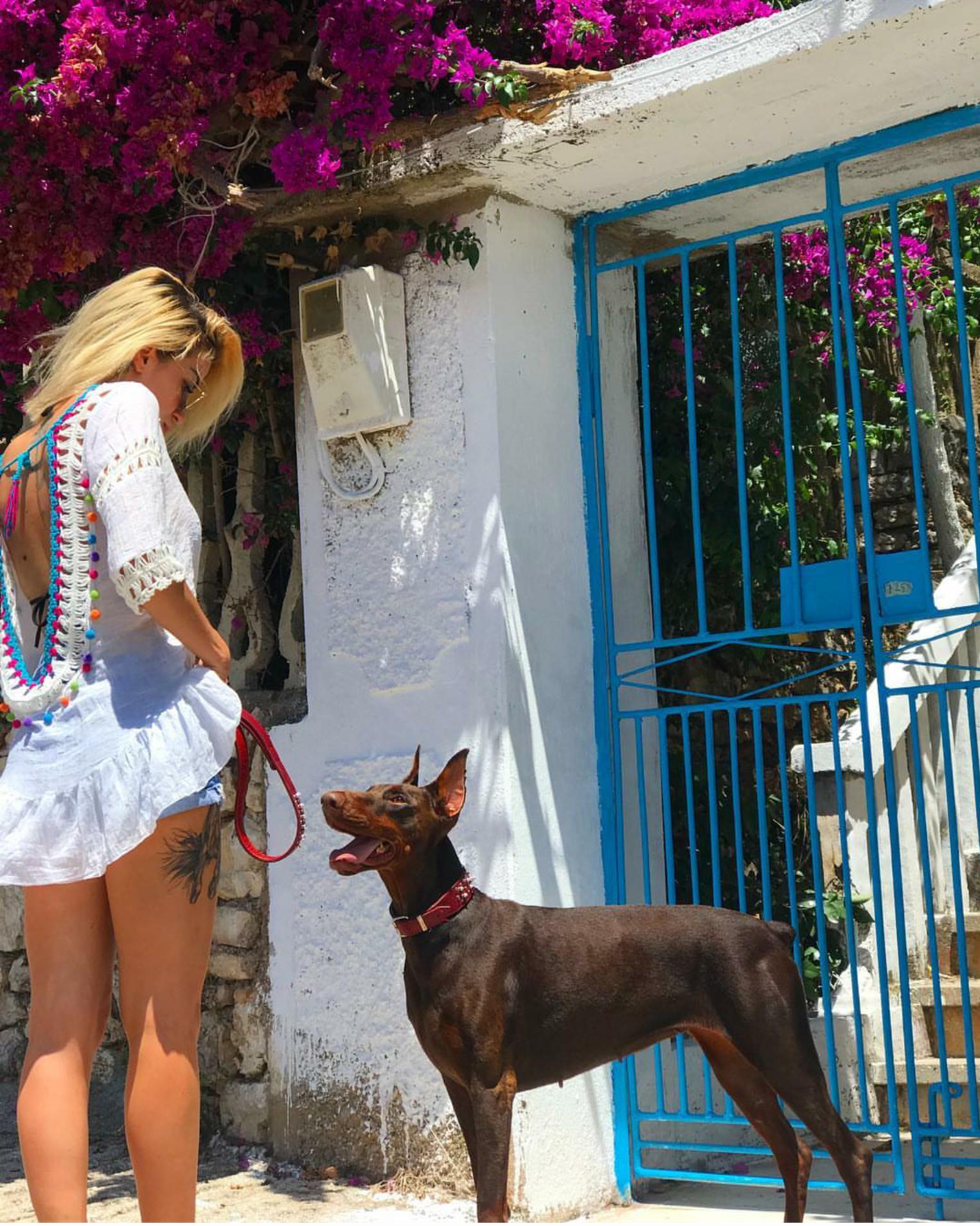 Roza Lati, sy më sy me qenin