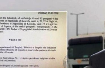 """Ish-ministri i Bujqësisë, Agron Duka: Qeveria ka nisur """"luftën"""" tregtare me Kosovën"""