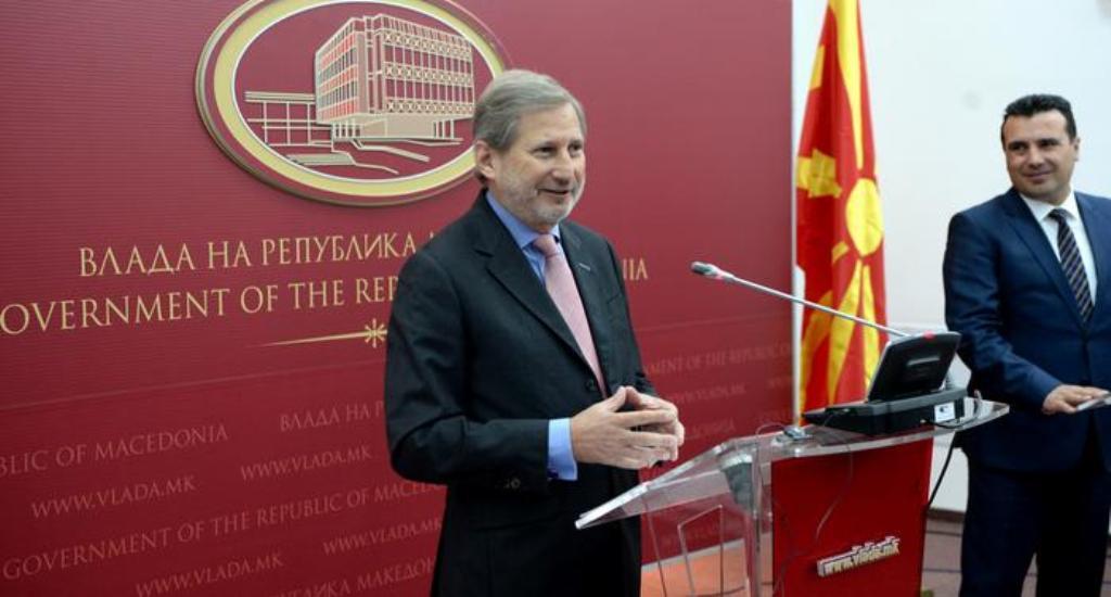 Hahn në Shkup, Maqedonia fillon procesin e verifikimit