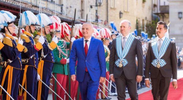 Meta pritet me nderime shtetërore në San Marino, hapet ambasada në Tiranë