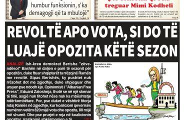 """Lexoni sot, 18 Shtator 2018, në gazetën e përditshme """"Albanian Free Press"""""""