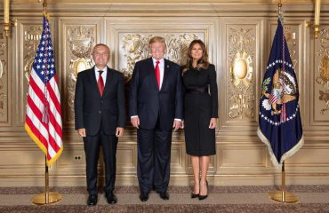 President Meta attends the reception hosted by the US president Trump