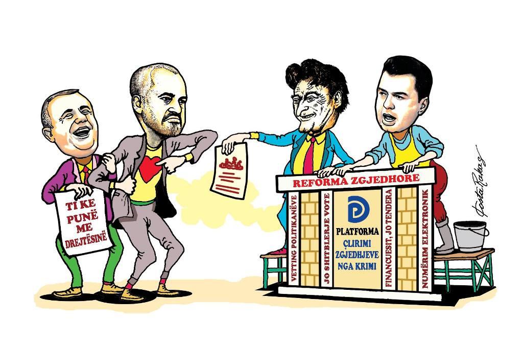 Karikatura e ditës në Albanian Free Press nga Kosta Raka (9 tetor 2018)