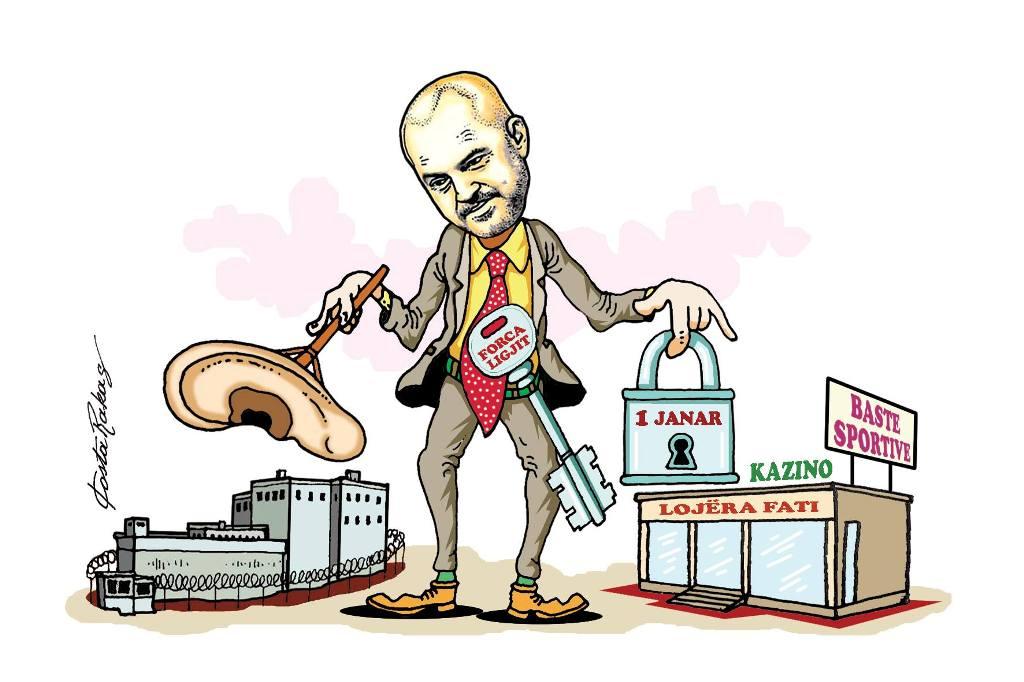 Karikatura e ditës në Albanian Free Press nga Kosta Raka (10 tetor 2018)