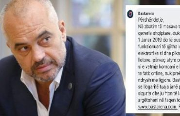 BASTET ON-LINE/ Kush po gënjen shqiptarët, Rama apo kompania-monopol?